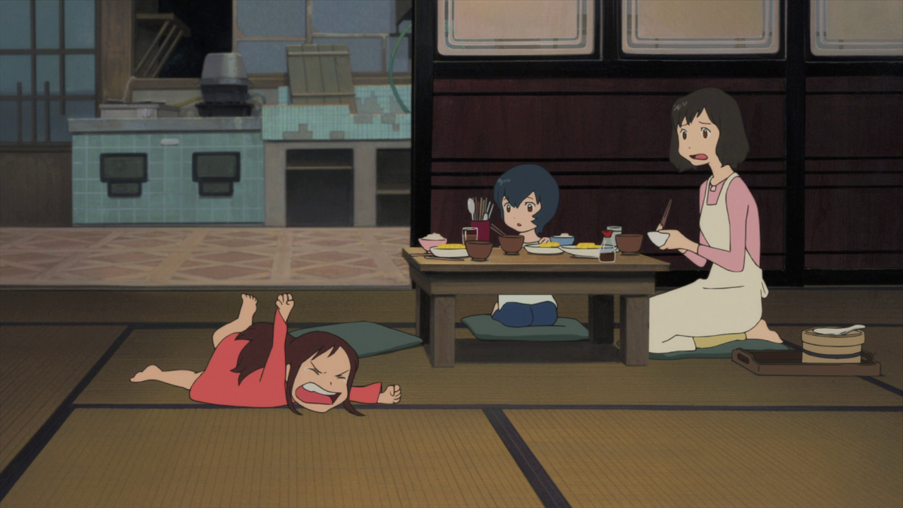 Family life in Wolf Children.